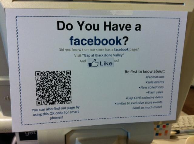 Facebook Qr Code Poster