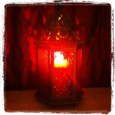 My Nov. 11 photo of the day: The theme is night so I took a photo of a candlelight in one of my lanterns.