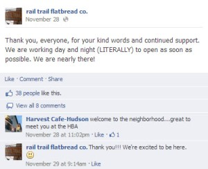 Rail Trail Facebook Thank You Post