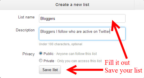 Create a New List