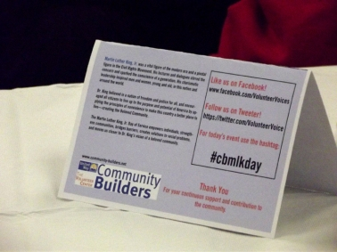Yes, I know it says Tweeter (I didn't create it). But having the social info on table tents was progress!
