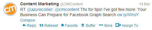 Content Marketing Institute Retweet