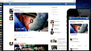 A look at the new Facebook news feed (image from Facebook)