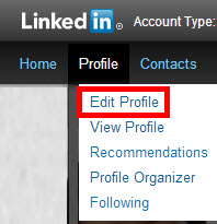LinkedIn Edit Profile