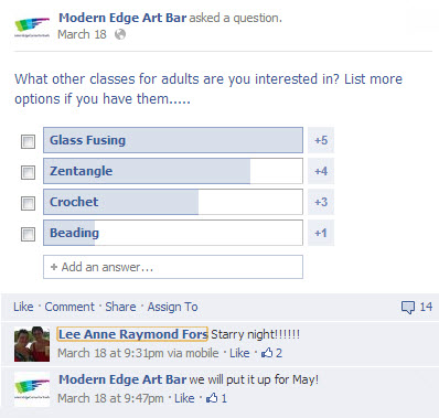 Modern Edge Facebook Poll