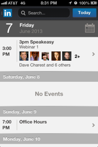 LinkedIn Mobile Calendar