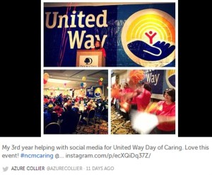 My Instagram college from the Day of Caring kickoff.
