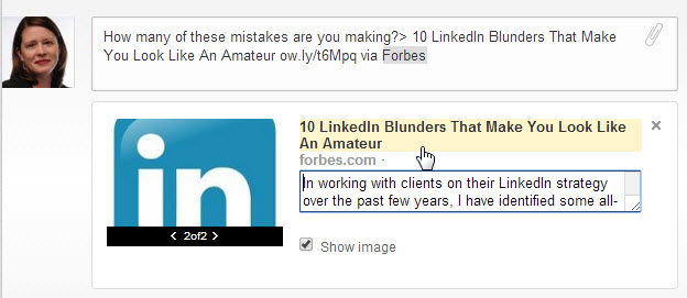LinkedIn Edit Link Headline