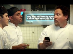 Chef Carl Casper (Jon Favreau) starts a Twitter feud with a food critic in the movie Chef.