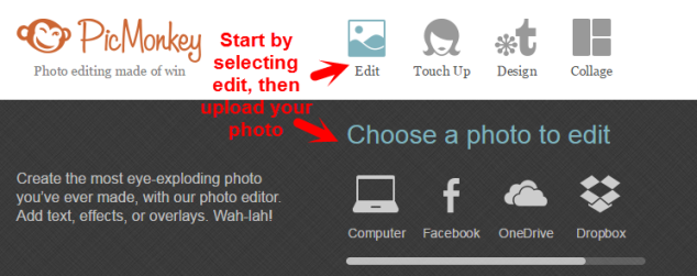 PicMonkey Get Started