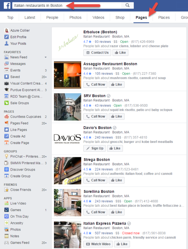 Facebook Graph Search Italian Restaurants in Boston.png